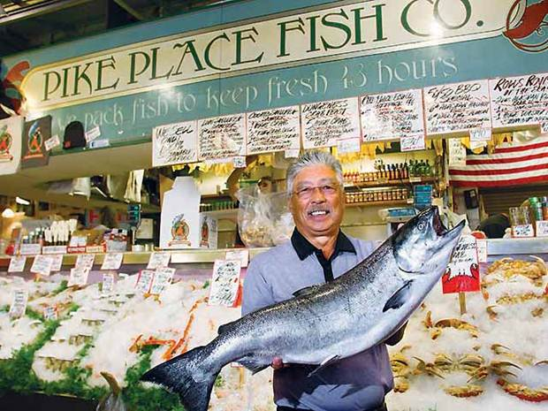 Bizfutures the flying fish story for Pike place fish market video